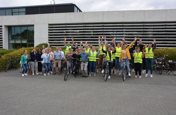 Recordaantal collega's neemt deel aan Car Free Day