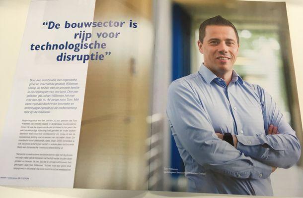 """Tom Willemen: """"De bouw is rijp voor technologische disruptie"""""""